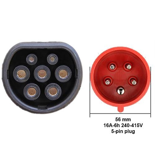 3-EV EVSE Type2 (3x16A) IP65 Cable de carga para vehículo eléctrico
