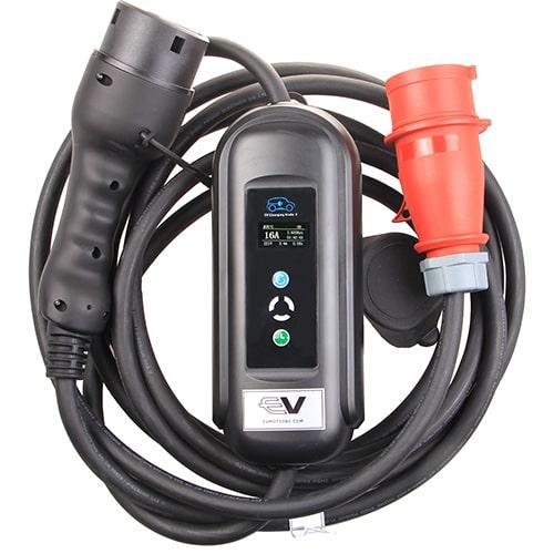 1-EV EVSE Type2 (3x16A) IP55 Cable de carga para vehículo eléctrico
