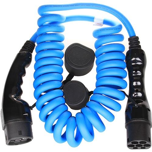 2-EV Type2 -> Type2 spiral (3x16A) Cable de carga para vehículo eléctrico