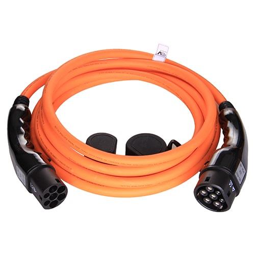 1-EV Type2 -> Type2 orange (3x32A) Cable de carga para vehículo eléctrico