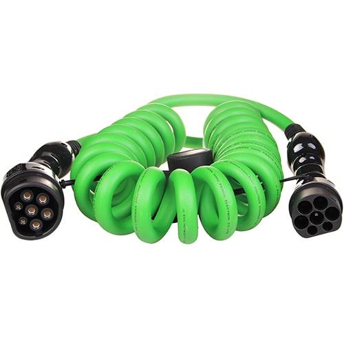 1-EV Type2 -> Type2 spiral (3x32A) Cable de carga para vehículo eléctrico