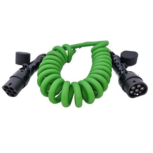3-EV Type2 -> Type2 spiral (3x32A) Cable de carga para vehículo eléctrico