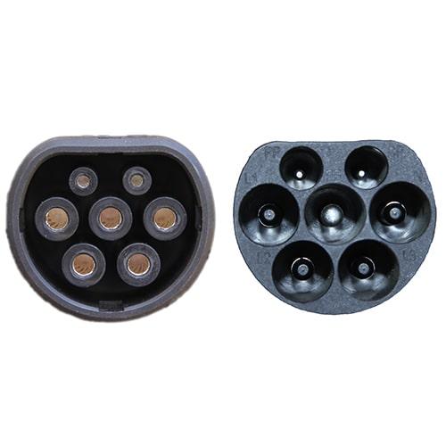 4-EV Type2 -> Type2 spiral (3x32A) Cable de carga para vehículo eléctrico