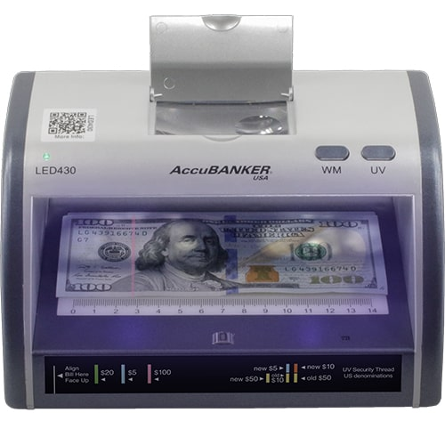 1-AccuBANKER LED430 controlador de billetes