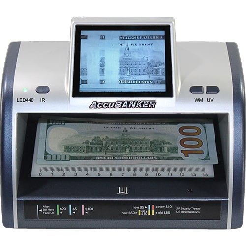 1-AccuBANKER LED440 controlador de billetes