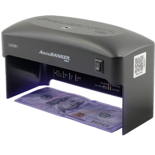 1-AccuBANKER LED61 controlador de billetes
